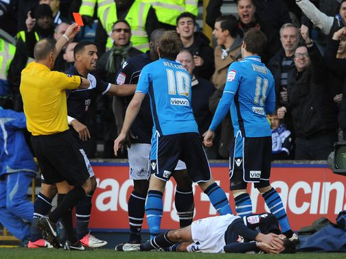 Luke Varney sees red at The Den