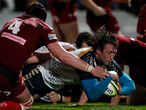 Neil Best goes over for Worcester
