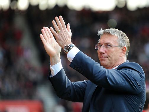 Nigel Adkins: Backed by midfielder Cork