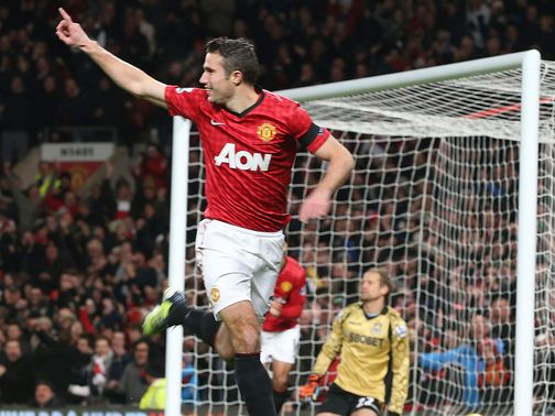 Robin van Persie scored an early winner for Man United