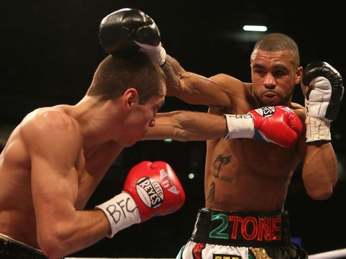 Scott Quigg on his way to victory over Rendall Munroe.