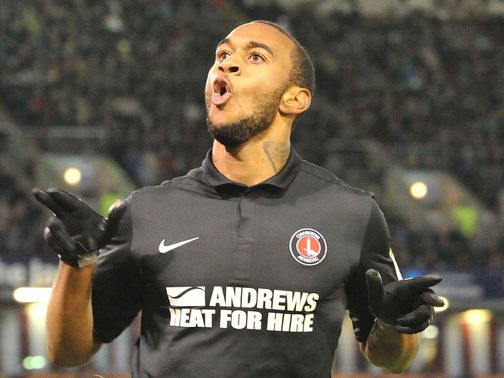 Danny Haynes celebrates his goal