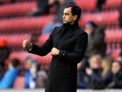 Roberto Martinez: His side will wear red shirts against Newcastle