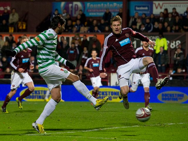 Lassed Nouioui scores the opening goal for Celtic