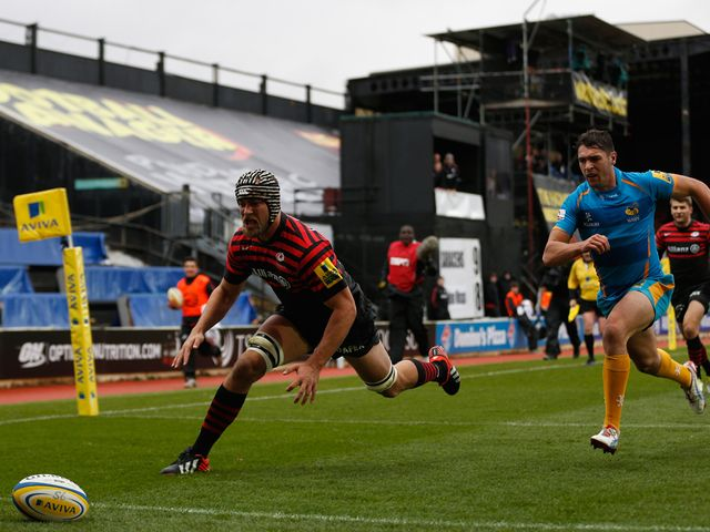 Alistair Hargreaves scores for Saracens