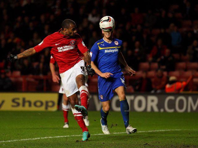 Danny Haynes scores Charlton's fourth goal