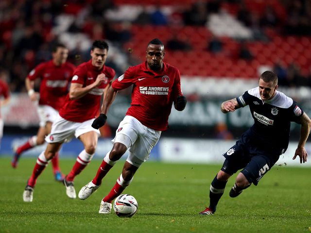 Ricardo Fuller drives forward for Charlton