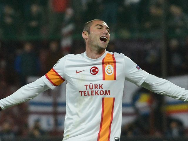 Burak Yilmaz: Hat-trick hero for Gala