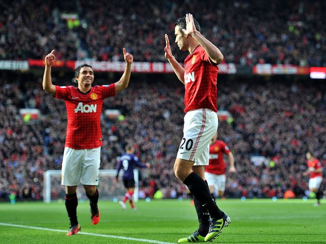 Robin van Persie opened the scoring against his old club