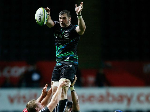 Morgan Allen: Scored two tries for Ospreys