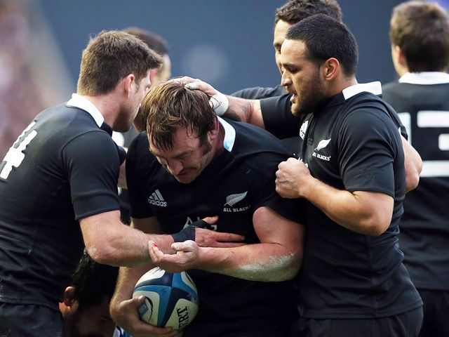New Zealand celebrate against Scotland