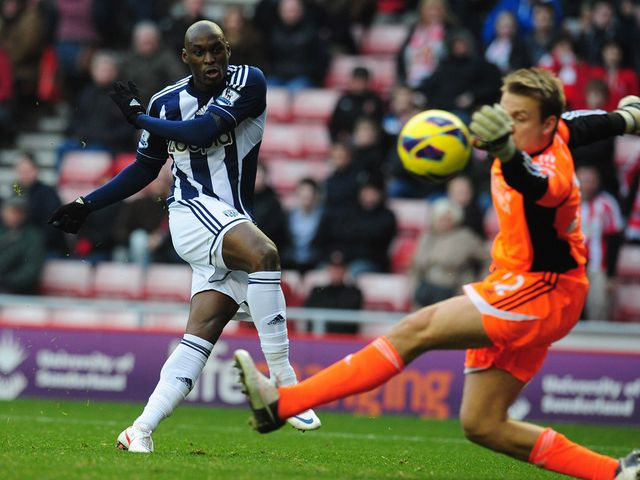Marc-Antoine Fortune scored West Brom's fourth goal
