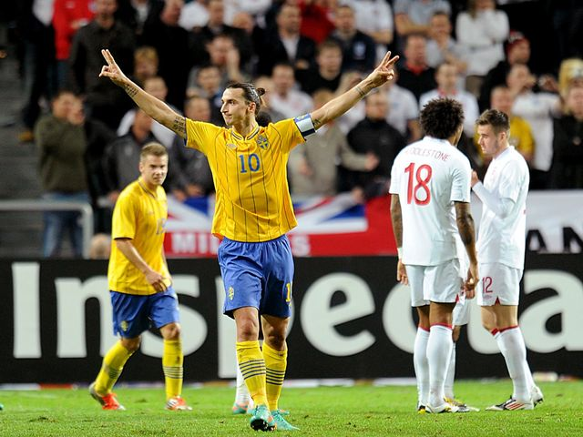 Ibrahimovic scored all of Sweden's four goals