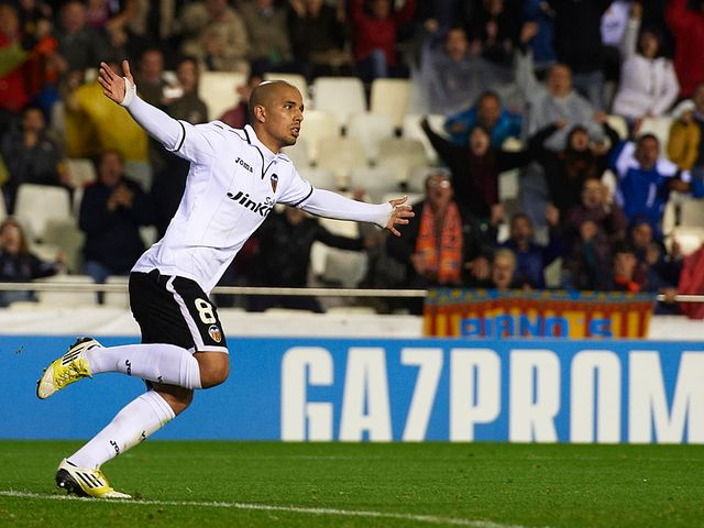 Sofiane Feghouli scored two goals for Valencia