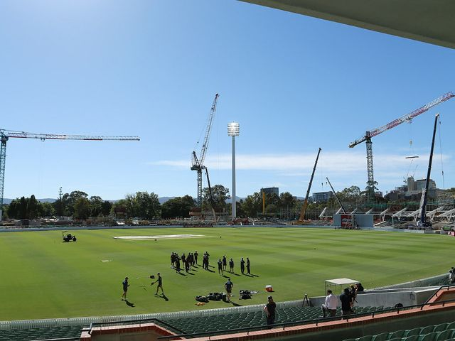 The venue currently sports construction as a backdrop.
