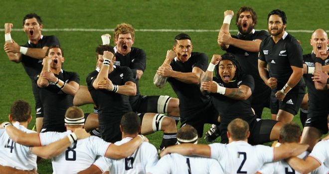 Haka: New Zealand lay down the challenge to France ahead of the 2011 World Cup final