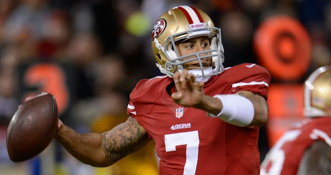 Colin Kaepernick: Threw two touchdowns on his first start