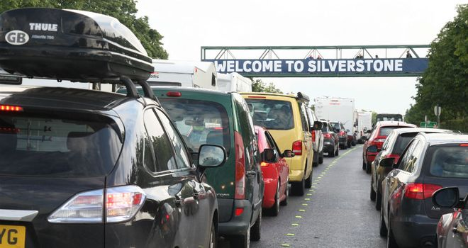 Silverstone: Experienced long tailbacks on the Friday of this July's race