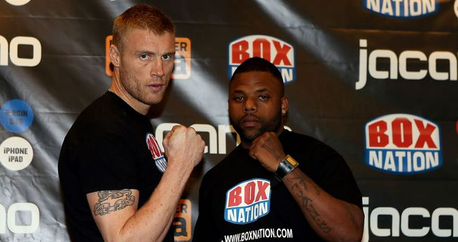 Andrew Flintoff (L) takes on Richard Dawson (R) on Friday night