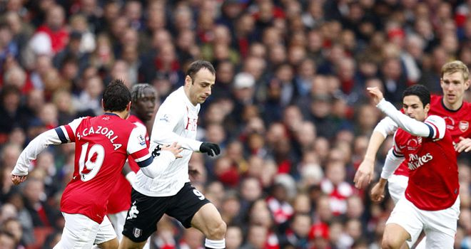 Dimitar Berbatov: Caused Arsenal plenty of problems