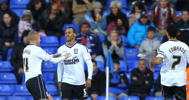 DJ Campbell: Celebrates his winner for Ipswich