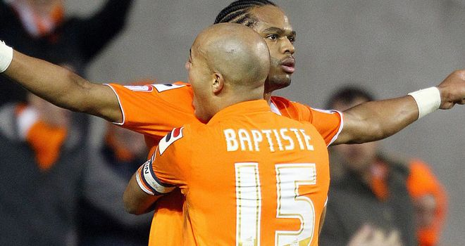 Nathan Delfouneso: On target late on for Blackpool
