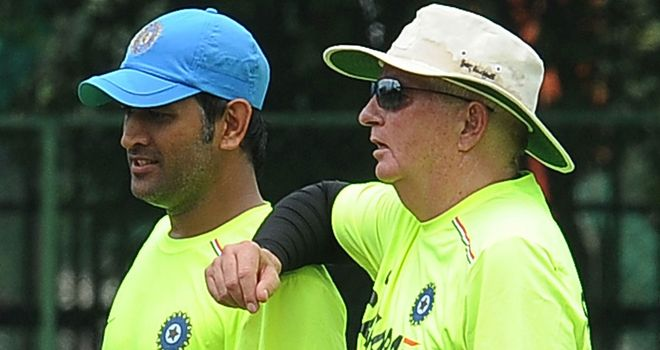 MS Dhoni and Duncan Fletcher: Under pressure to avoid series defeat