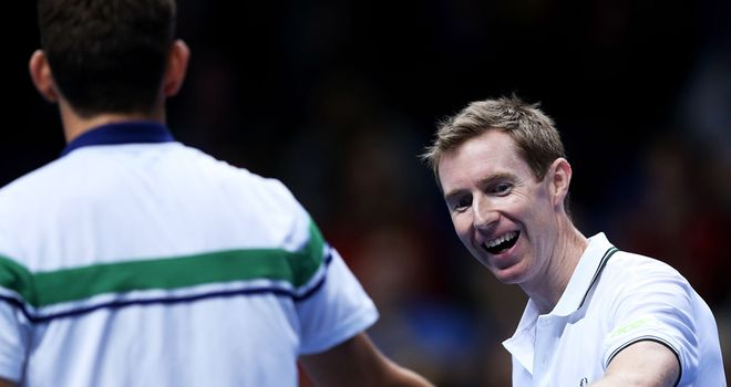Jonny Marray: Won his opening match at the O2 alongside Frederik Nielsen