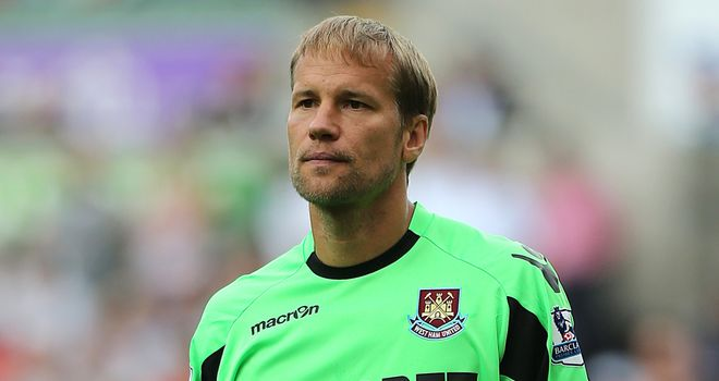 Jussi Jaaskelainen: West Ham keeper has triggered one-year contract extension