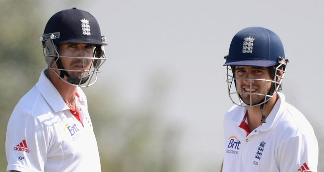 Kevin Pietersen (left) and Alastair Cook: Leading England to victory