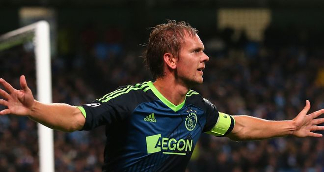 De Jong Siem: Scored in Ajax's win over AZ Alkmaar