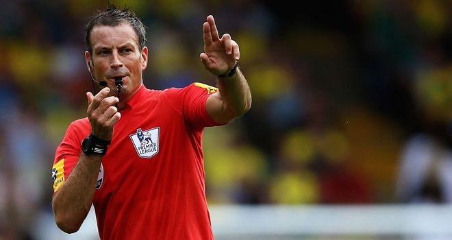 Mark Clattenburg: Referee will be fourth official at White Hart Lane on Sunday