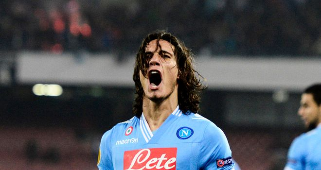 Edinson Cavani: grabbed a late winner for Napoli on the road