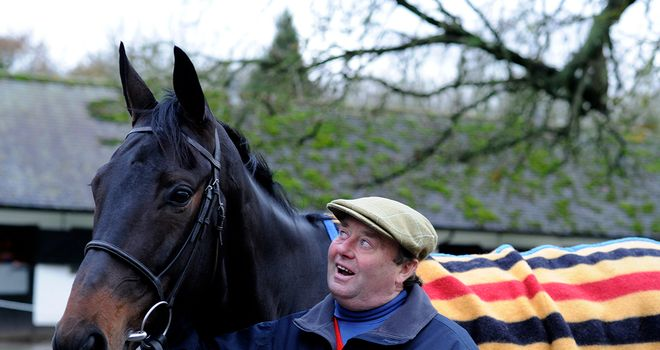 Nicky Henderson with the apple of his eye