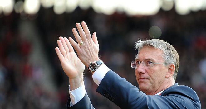 Nigel Adkins: Says his Southampton side must play football against Stoke