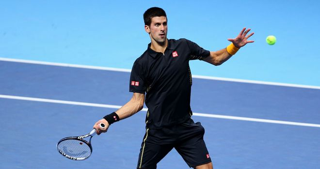 Novak Djokovic: Powered through to the final at the O2 Arena