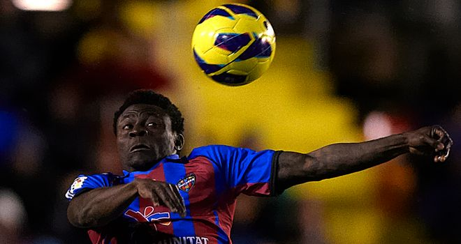 Obafemi Martins opened the scoring for Levante