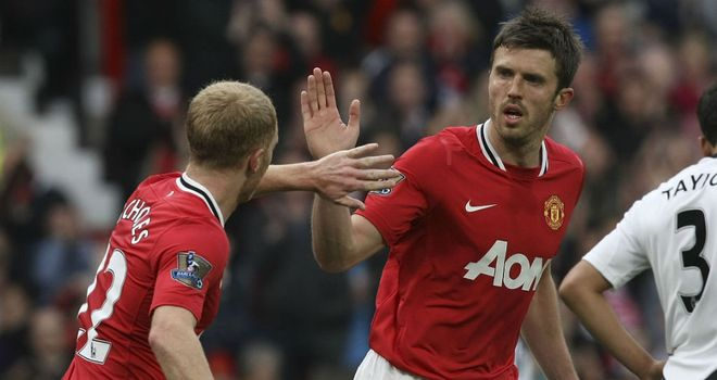 Michael Carrick (R): Happy to be likened to Manchester United legend Paul Scholes