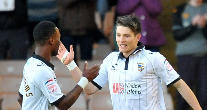 Ryan Burge (r): Handed punishment by Port Vale
