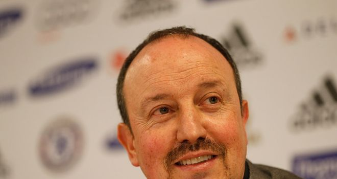 Rafael Benitez: Takes charge of his first Chelsea game against City