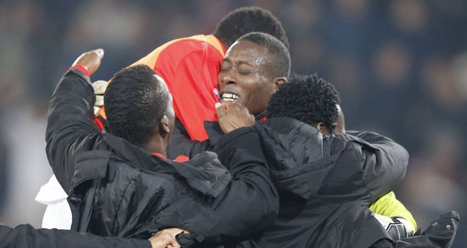 Rennes celebrate their shock victory