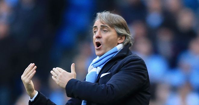 Roberto Mancini: May get another bite-sized taste of the top on Saturday