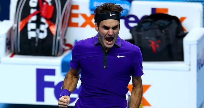 Roger Federer: Enjoyed the backing of much of the crowd against Andy Murray