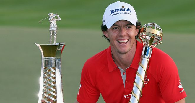 Rory McIlroy with the two trophies he wanted