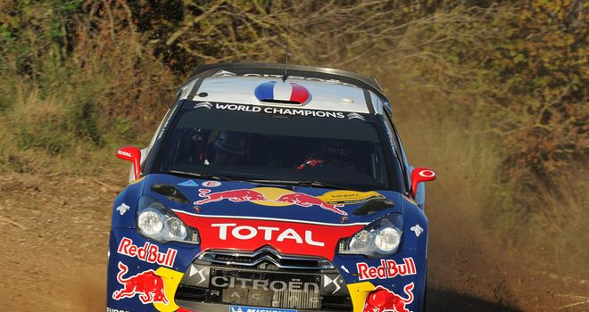 Sebastian Loeb: handled the wet conditions in Spain