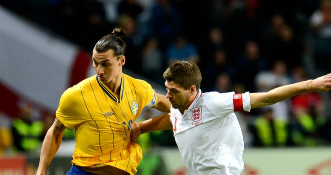 Zlatan ibrahimovic and Steven Gerrard: The Sweden striker stole the show