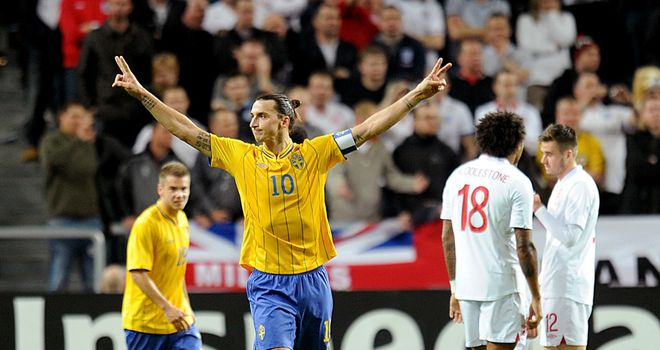Zlatan Ibrahimovic: Scored an incredible overhead-kick in Sweden's win over England