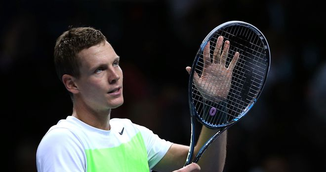 Tomas Berdych: saw off Jo-Wilfried Tsonga to remain alive in Group A at the O2 Arena