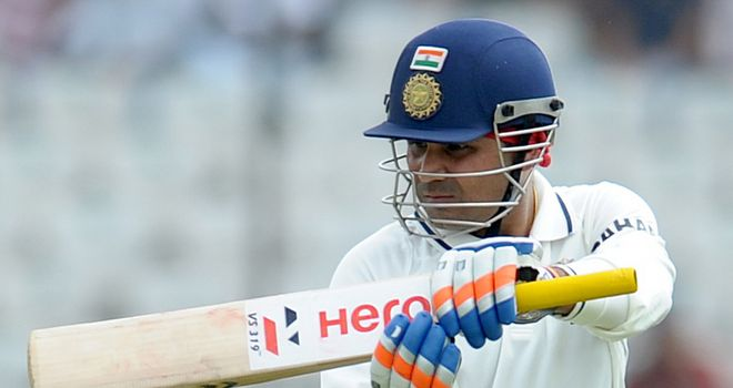 Sehwag: India opener cracked a run-a-ball 117 on day one in Ahmedabad