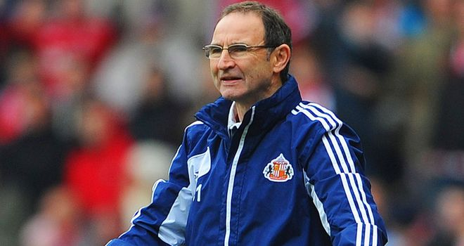 Martin O'Neill: Hoping to steer Sunderland clear of relegation trouble